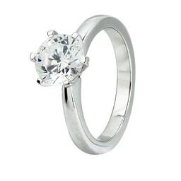 vigselring silver med diamant