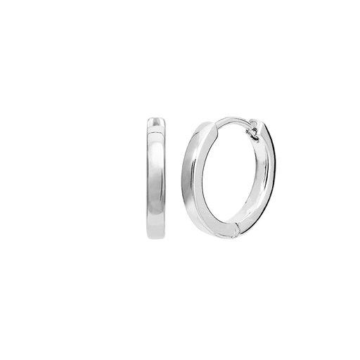 silver ring örhänge