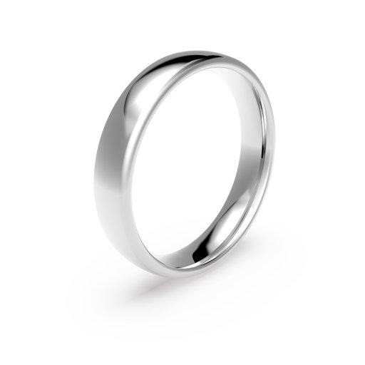 Förlovningsring i platina 4,5mm, 48