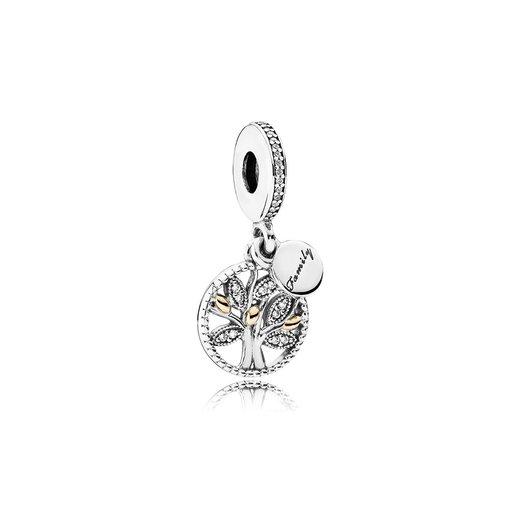 Berlock i äkta silver med detaljer i guld och kubisk zirkoni